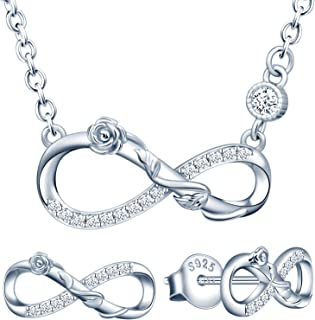 Demarkt Schmuckset Halskette Anh/änger Ohrringe Set Braut Schmuckset Geschenk Katzeform Gr/ün und Silber