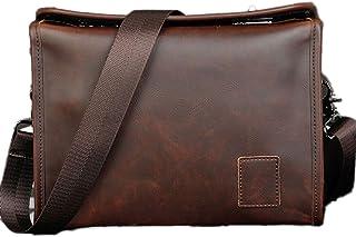 NUBEN Men Shoulder Bag Messenger Bags Casual Synthesis Cowhide Case Style Twist Lock