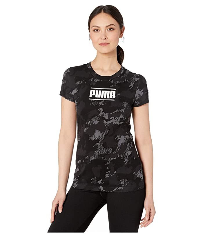 PUMA Camo Pack AOP Tee (Iron Gate AOP) Women