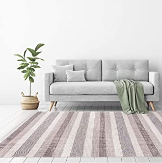 We Rugs Oslo Collection: Reversible Handmade Flatweave 100% Cotton Area Rug for Home Décor, Easy Care, 5' 3'' x 7' 7'', Grey Model 3993