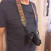 Kameragurt Royal Silber Schwarz Gewebt Für Alle Kamera