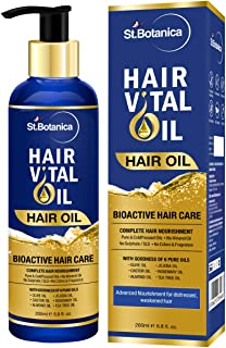 StBotanica Hair Vital Bioactive (6 Pure Oils in 1) oil - No Mineral Oil and Parabens - 200ml