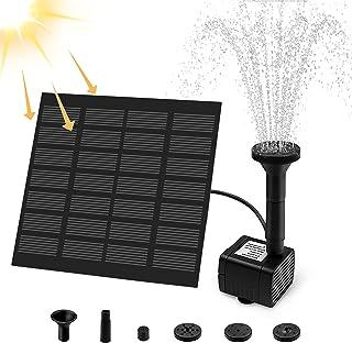 Solar Springbrunnen, otumixx Solar Teichpumpe Garten Wasserpumpe Solar Fontäne Pumpe mit 1,2W Monokristalline Solar Panel ...