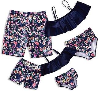 Yaffi Family Matching Swimwear 2019 Newest Two Piece Bikini Set Ruffle Bathing Suit Off Shoulder Beachwear
