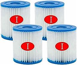 Mscomft Cartuchos de filtro tamaño 1 para Bestway 58093, tipo I de repuesto para bombas de piscina Bestway, repuesto de spa, accesorios de limpieza para piscina hinchable (4 unidades)