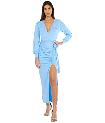 Bebe Utility High Slit Midi Dress