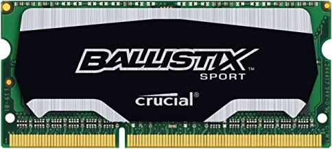 Ballistix Sport 8GB Single DDR3 1866 MT/s (PC3-12800) SODIMM 204-Pin Memory - BLS8G3N18AES4