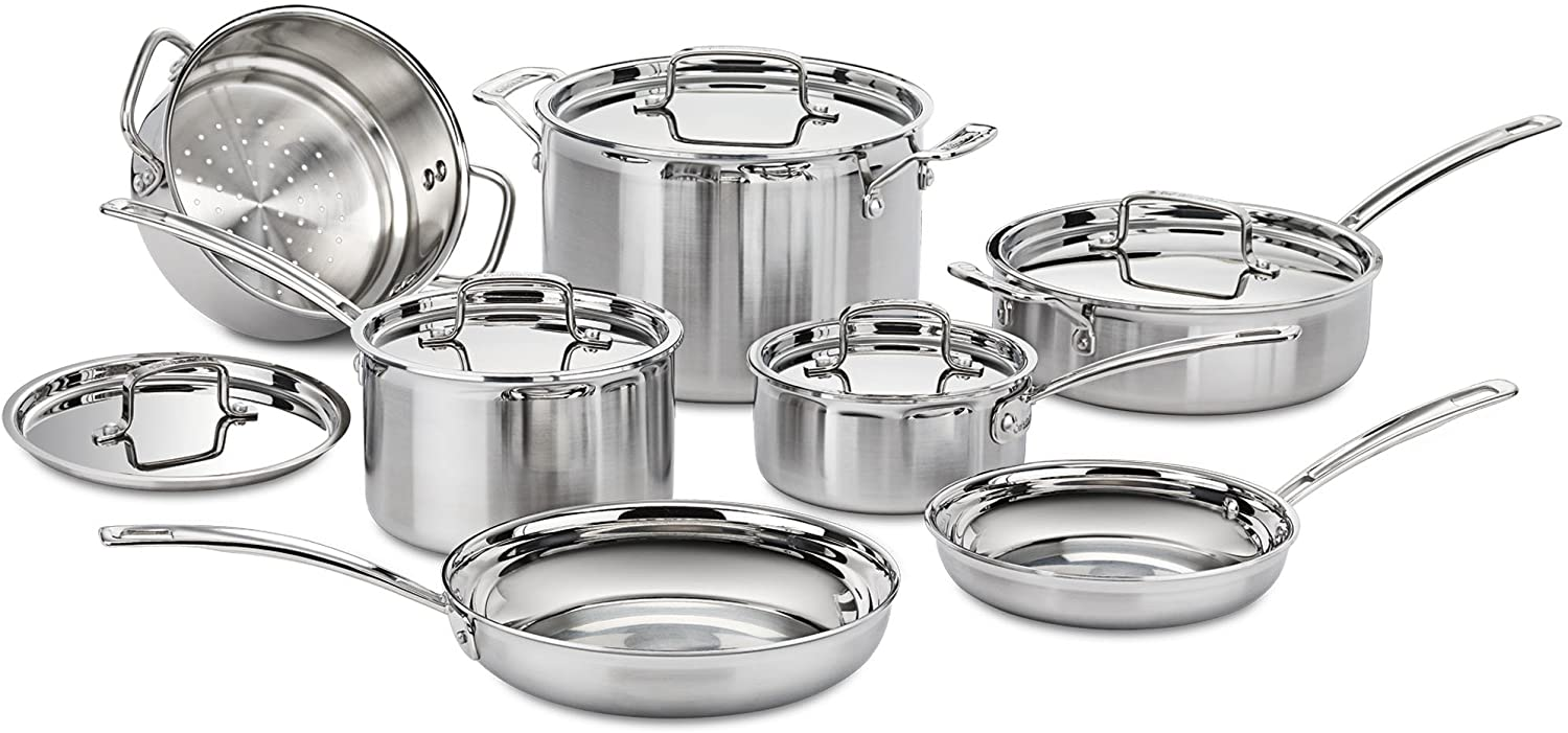 Cuisinart MCP-12N Multiclad New popularity Pro Steel Cookwar 12-Piece Stainless Cheap sale