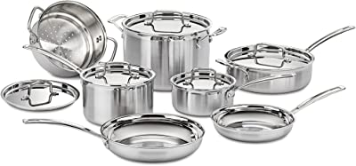 Cuisinart Multiclad Pro Stainless Steel Cookware Set - Best Eco Friendly Pots and Pans