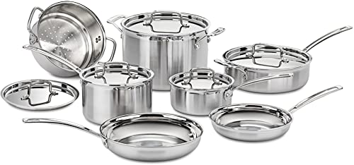 2021 Cuisinart MCP-12N Multiclad Pro popular Stainless Steel 2021 12-Piece Cookware Set online