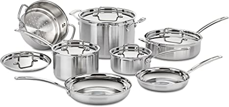 Cuisinart MCP-12N Multiclad Pro Stainless Steel 12-Piece Cookware Set Silver