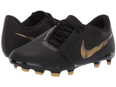 Nike Kids Jr. Phantom Venom Club FG Soccer (Toddler/Little Kid/Big Kid) (Black/Metallic Vivid Gold) Kids Shoes