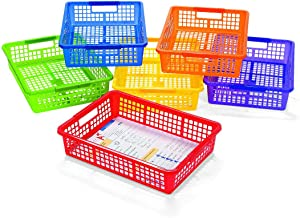 Classroom Storage Baskets with Handles-Back to School-Teaching Supplies-Desk Organizers-6 pcs
