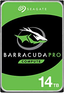 Seagate Barracuda Pro 14TB Internal Hard Drive Performance HDD – 3.5 Inch SATA 6 Gb/s 7200 RPM 256MB Cache for Computer De...
