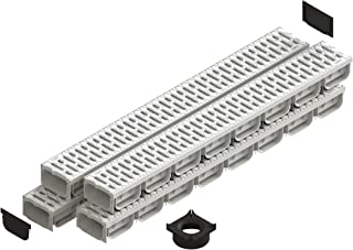 Standartpark - 4 Inch Trench Drain System With Grate - Ivory Color - Spark 2 Channel (4)