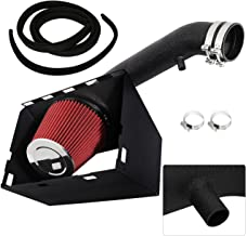 For Dodge Ram 1500 2500 3500 5.7L V8 High Flow Induction Air Intake System + Heat Shield Black Piping Kit