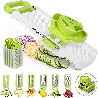 Sedhoom Mandoline pour légumes 6 en 1 Mandoline pour légumes Trancheuse de légumes Coupe-légumes Professionnel de cuisine ...