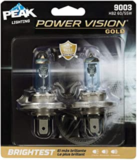 PEAK Power Vision Gold Automotive Performance Headlamp,  9003 H4,  HB2,  2 Pack
