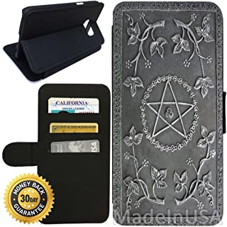 Flip Wallet Case for Galaxy S7 (Ultimate Book of Spells) with Adjustable Stand and 3 Card Holders | Shock Protection | Lightweight | Includes Stylus Pen by Innosub