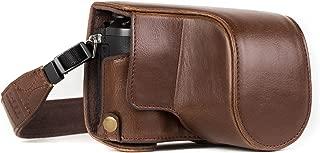 MegaGear Panasonic Lumix DMC-GX85, DMC-GX80 (12-32mm) Ever Ready Leather Camera Case and Strap, with Battery Access - Dark Brown - MG1301