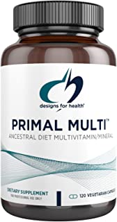 Designs for Health Primal Multi - Paleo-Friendly Multivitamin Supplement with Active Folate, Tocotrienols, Lutein + Brocco...