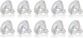 Simba Lighting Halogen MR16 50W 12V Light Bulbs (10 Pack) for Landscape, Track Lights, Fiber Optics, Desk Lamps, EXN C Spotlights with Glass Cover, GU5.3 Bi Pin Base, 2700K Warm White Dimmable