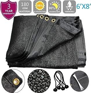 F.O.T 85-90% Sunblock Shade Cloth 6ftx8ft+4pcs 4