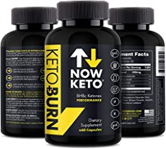 NOW KETO Keto + Burn Exogenous BHB Ketone Supplement Capsules | Best Keto Diet | Ketosis Supplement to Support Fat Burn, &...