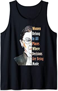 Ruth Bader Ginsburg Notorious RBG Women Belong In All Places Tank Top