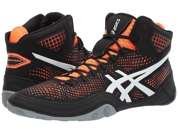 ASICS  Dan Gable Evo 2 (Black/Shocking Orange) Mens Wrestling Shoes