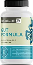 ProBiome Rx Gut Formula Supplements, Gut-Integrity Blend of L-Glutamine and Licorice Root, 10 Billion CFUs* Per Serving, 90 Capsules