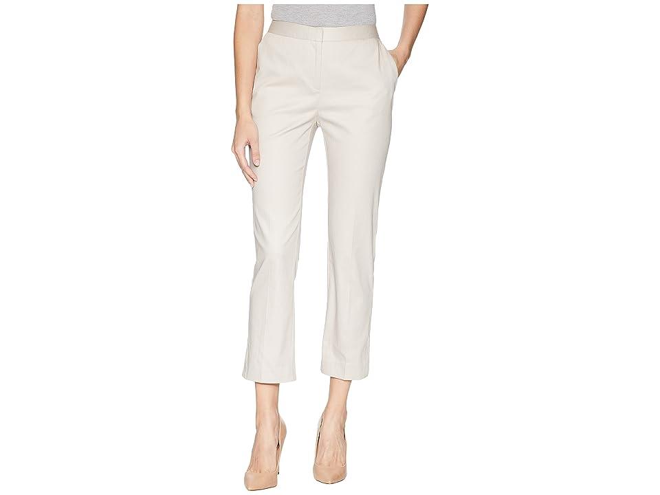 Ellen Tracy Slim Leg Trousers w/ Side Slits (Sand) Women's Clothing, Beige