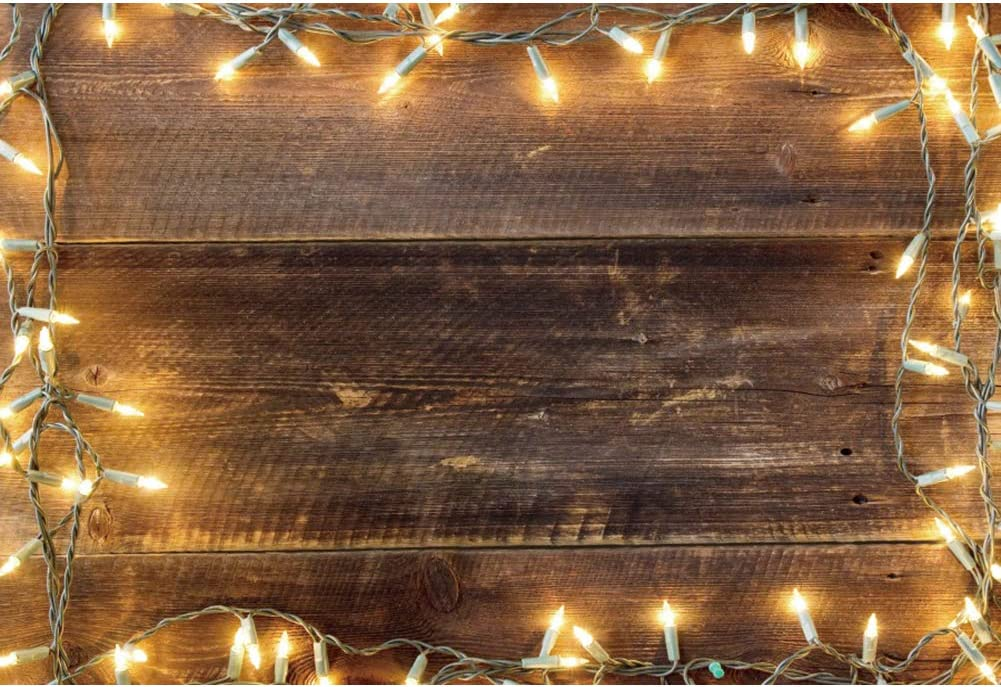 OFILA Rustic Challenge the lowest price Xmas Party Backdrop 9x6ft Background Max 51% OFF Wooden Pl Wall