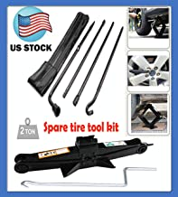 Truck Spare Tire Changing Repair Tool for (2004-2014) Ford F150 Spare Tire Lug Wrench Tool Kit Replacement & Scissor Jack 2 Tonne Heavy Duty Extend from 105MM to 385MM