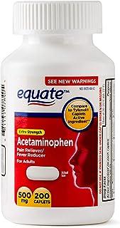 Equate Extra Strength Acetaminophen 500mg 200 Count Caplets