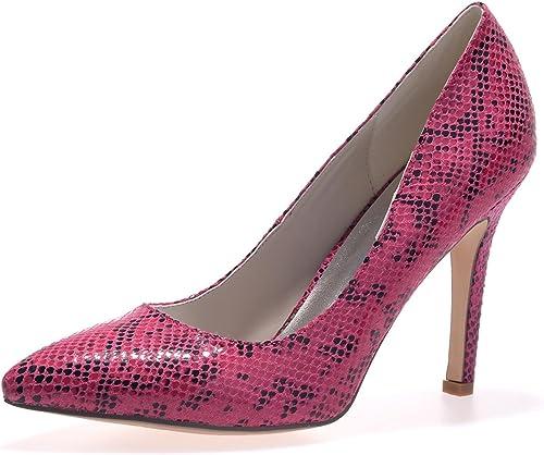 Elegant High zapatosE0608-19 Tacones Altos De Boda De mujer Cuero Artificial Oficina Y Vestido Profesional Y plataforma De TacóN Fino