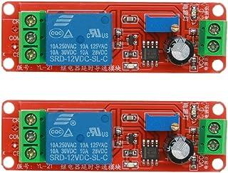 ARCELI 2 STÜCKE NE555 12 V DC Einstellbar 0 10 Sekunden Timer Verzögerungsschalter Modul für Arduino Raspberry Pi