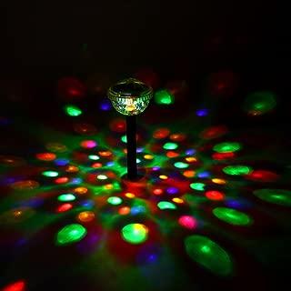 GIGALUMI Solar Lights Outdoor Color Changing Garden Led Light Landscape/Pathway Lights Solar Disco Pool Lights (2 Pack)
