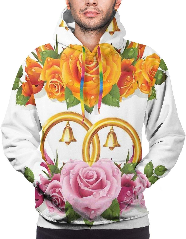 Men's Hoodies Sweatshirts,Bunch of Flower Petals Essence Fragrance Garden Growth Theme Atlas Image