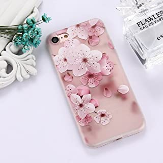 QFH For iPhone 8 & 7 TPU Frosted Embossed Tulip Girl Pattern Protective Case Back Cover new style phone case (Color : Color2)