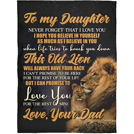 Custom Lions Blanket Gift For Daughter From Dad Fleece Sherpa Blankets Xmas