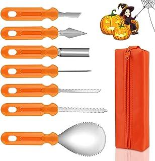 Molbory Kit de Sculpture de Citrouille d'halloween, 7 pièces Pumpkin Carving Kit Outils Sculpture, Kit Outils Sculpture en...