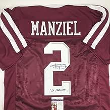 Autographed/Signed Johnny Manziel 12 Heisman Texas A&M Maroon College Football Jersey JSA COA