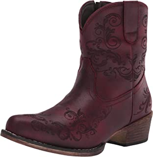 Roper womens Western Boot,Red,8