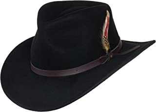 Montana Crushable Wool Felt Western Style Cowboy Hat by Silver Canyon