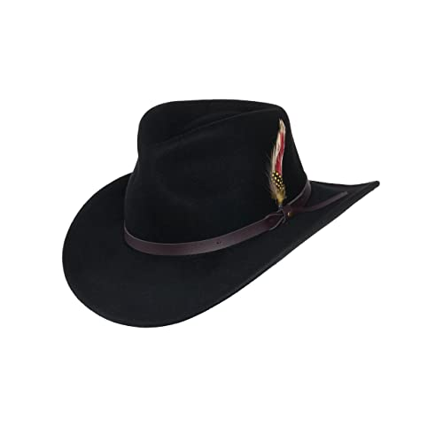 064fd0a8a80 Cowboy Hat with Feathers  Amazon.com