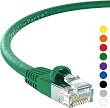 InstallerParts Ethernet Cable CAT5E Cable UTP Booted 10 FT - Green - Professional Series - 1Gigabit/Sec Network/Internet Cable, 350MHZ