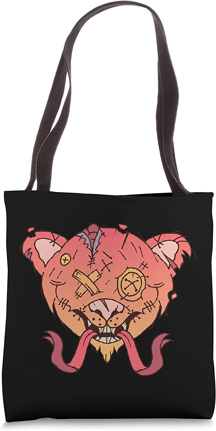Online limited Nippon regular agency product Creepy Zombie Teddy Bear Illustration Holiday - Halloween Tote B