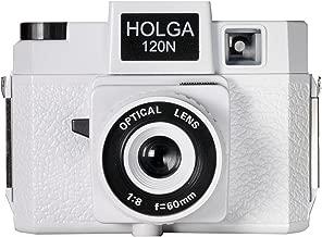 Holga 785120 120N Plastic Medium Format Camera - White (Black)
