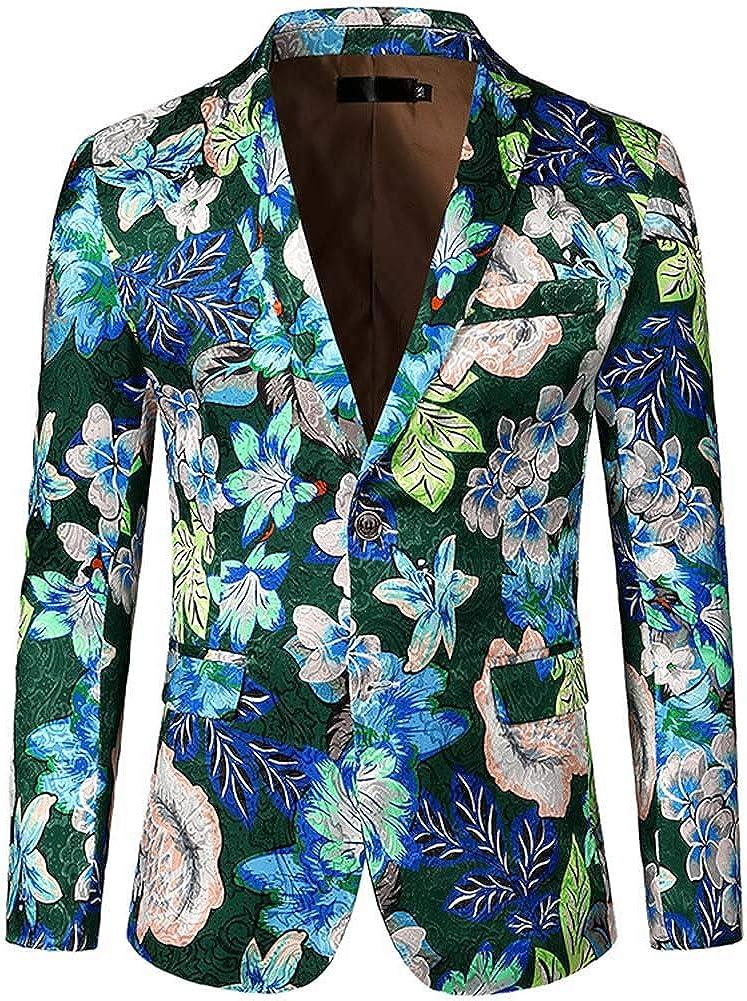 Men's Casual Digital Pattern Embroidery Suits Men's Floral Slim fit Suits Men's Blazer Jackets
